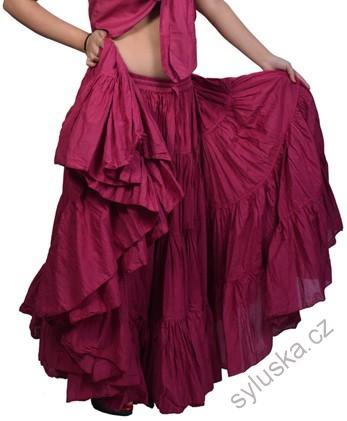 8fbe5cab3a6 Sukně kolová TRIBAL - červeno-fialová (101 cm)