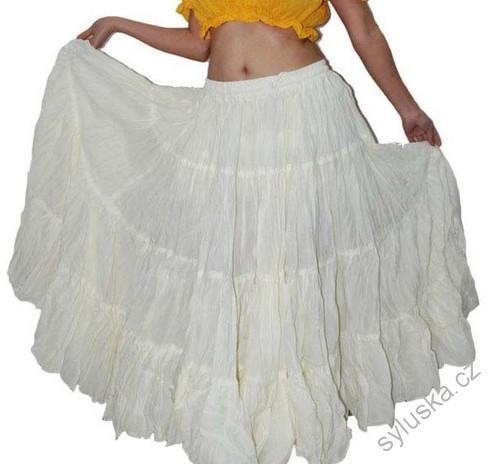 0924ce84aa0 Sukně kolová TRIBAL - bílá (101 cm)
