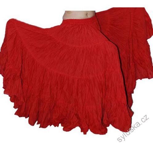 db00a486be8 Sukně kolová TRIBAL - červená (101 cm)
