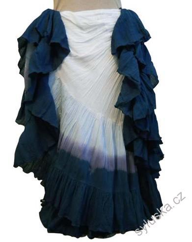 da662bb006c Sukně kolová TRIBAL - bílá šedá (101 cm)