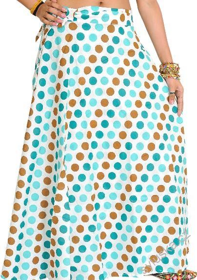 963ead3b06f Zavinovací sukně (97 cm) s puntíky - zelená