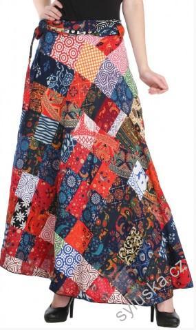 f8181a45927 SKLADEM Zavinovací sukně (112 cm) patchwork - multicolor