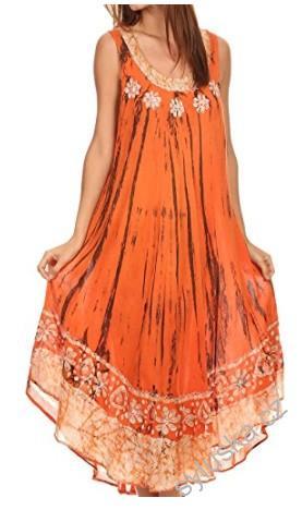 47a84f38c44 Šaty ALEXIS batika - oranžové (do 120 cm)