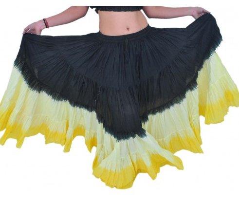8d475f5d38f Sukně kolová TRIBAL - černá žlutá (101 cm)
