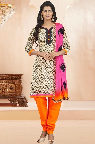 Krémové ORIENT šaty s oranžovou 92473c03bf