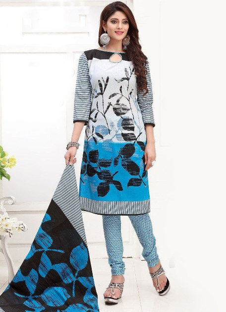 Modrošedé ORIENT šaty s potiskem ae04397535