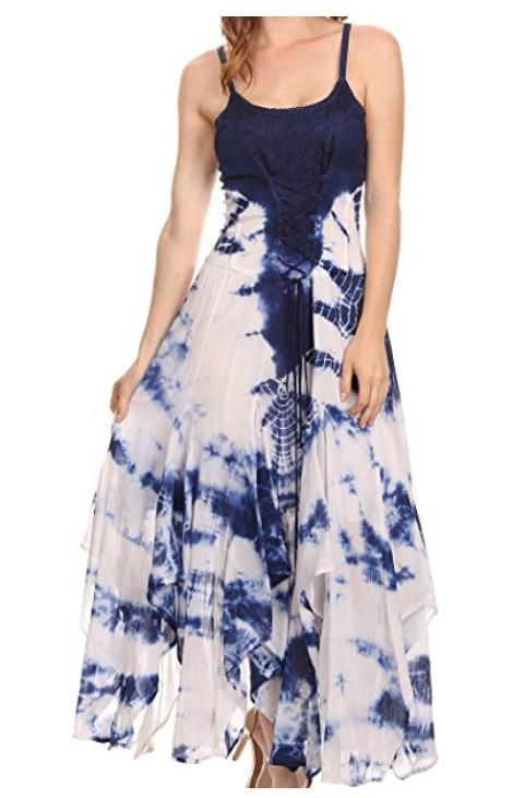 f155ff7581c Šaty SAMI batika - tmavě modré (obvod do 107 cm)
