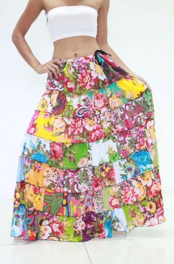805991f98f9 Patchworková sukně EMMA (99 cm)