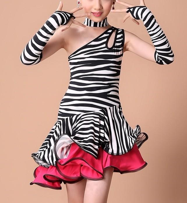e7492ed28744 Dívčí latino šaty ZEBRA