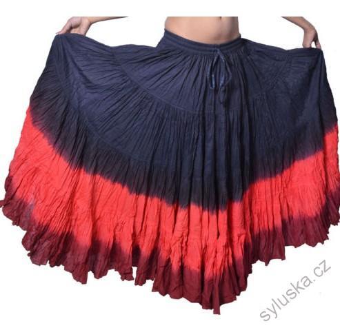 479cddeab3a Sukně kolová TRIBAL - černá červená (101 cm)