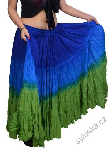 eb1acb7ae96 Sukně kolová TRIBAL - modrá zelená (101 cm)