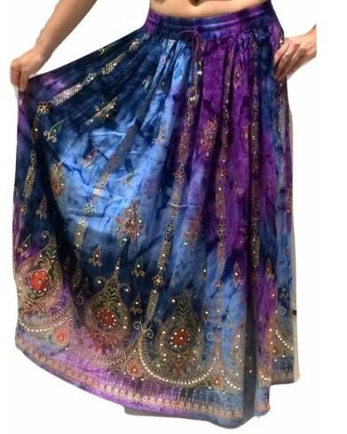 fb31c15a9ec Skladem - INDICKÁ sukně zdobená - MULTICOLOR (90 cm)
