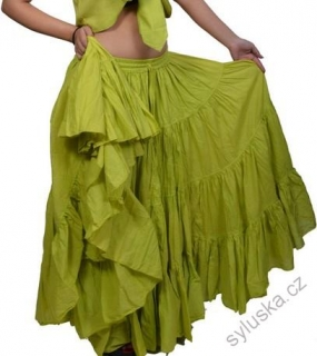 54957f9968c Sukně kolová TRIBAL - limetkově zelená (101 cm)