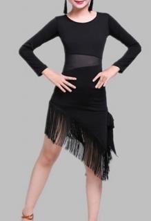 90426c511533 Dívčí latino šaty SANDRA - dlouhý rukáv