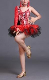 9246ab40e525 Dívčí latino šaty PAULINA