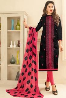ORIENT šaty černo-růžové vyšívané baac24952a