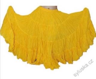 03900e42e97 Sukně kolová TRIBAL - žlutá (92 cm)